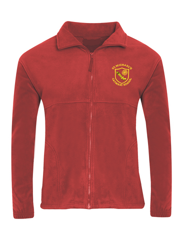 St Michael's Catholic Primary School - Houghton Le Spring Red Fleece Jacket
