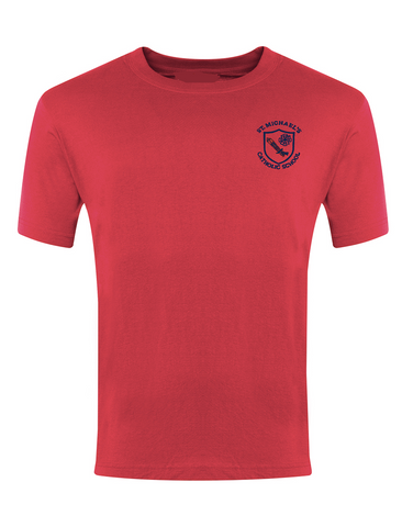 St Michael's Catholic Primary School - Houghton Le Spring Red P.E. T-Shirt