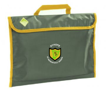 St Patrick's R.C. Primary School - Ryhope Bottle Green / Gold Stripe Book Bag