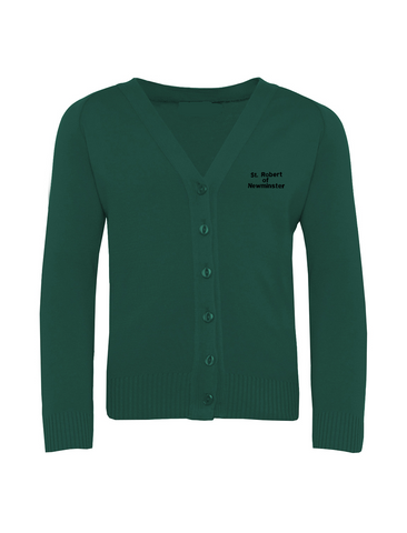 St Robert Of Newminster Catholic School Bottle Green Cardigan (Year 7 - 9)