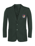 St Robert Of Newminster Catholic School Boys Bottle Green Blazer - Purple Badge