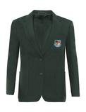 St Robert Of Newminster Catholic School Girls Bottle Green Blazer - Blue Badge