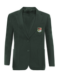 St Robert Of Newminster Catholic School Girls Bottle Green Blazer - Green Badge