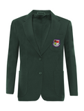 St Robert Of Newminster Catholic School Girls Bottle Green Blazer - Purple Badge