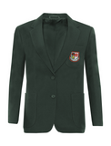 St Robert Of Newminster Catholic School Girls Bottle Green Blazer - Red Badge