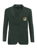 St Robert Of Newminster Catholic School Girls Bottle Green Blazer - Yellow Badge