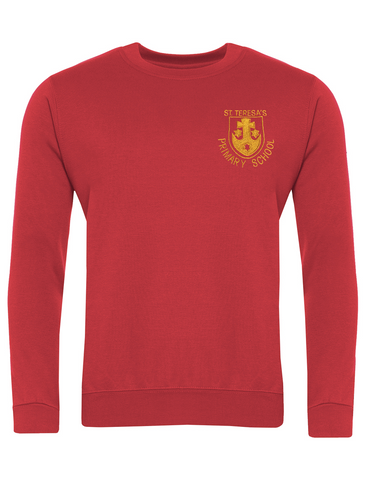 St Teresa's Catholic Primary School Red Sweatshirt