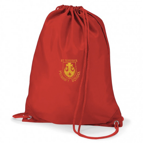 St Teresa's Catholic Primary School Red Gym Bag
