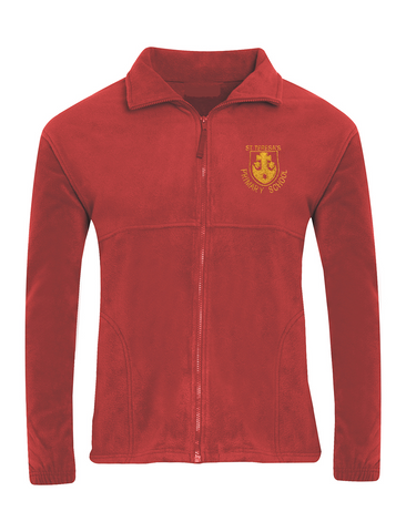 St Teresa's Catholic Primary School Red Fleece Jacket