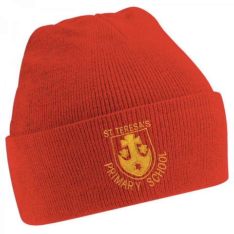 St Teresa's Catholic Primary School Red Knitted Hat