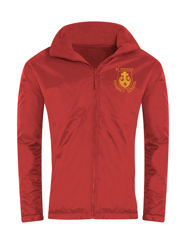 St Teresa's Catholic Primary School Red Showerproof Jacket