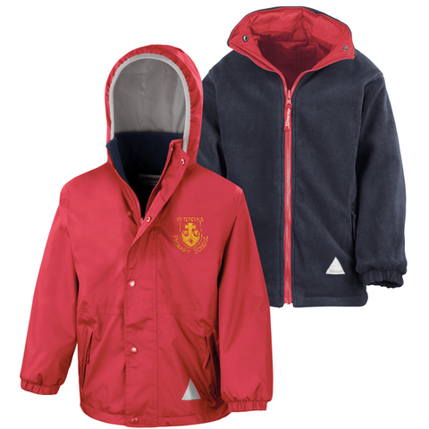 St Teresa's Catholic Primary School Red Waterproof Coat