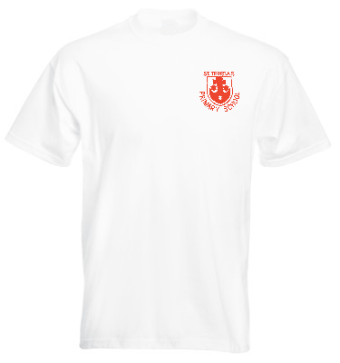 St Teresa's Catholic Primary School White P.E. T-Shirt