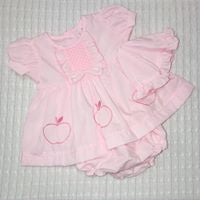Sweet Elegance, 3 Piece Pink (Apple) Dress Set