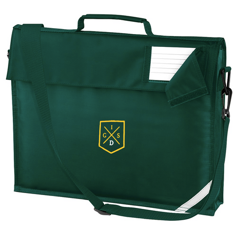 The Independent Grammar School : Durham Bottle Green Book Bag with a Shoulder Strap