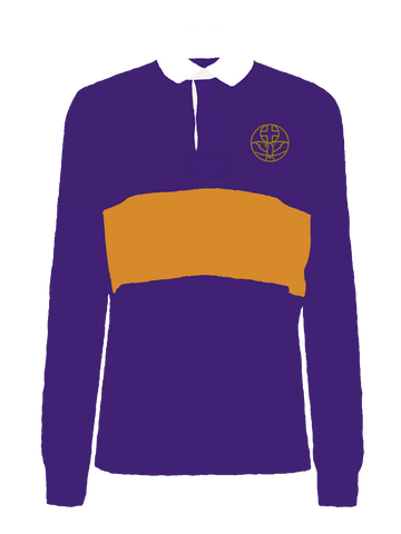 The Venerable Bede Academy Purple/Amber Rugby Top