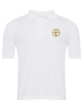The Venerable Bede Academy White Summer Polo (Gold Badge)