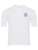 The Venerable Bede Academy White Summer Polo (Purple Badge)