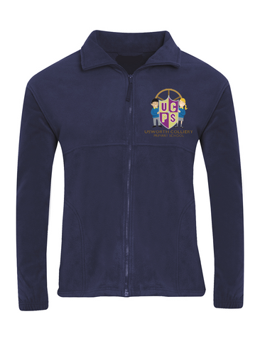 Usworth Colliery Primary School Navy Fleece Jacket