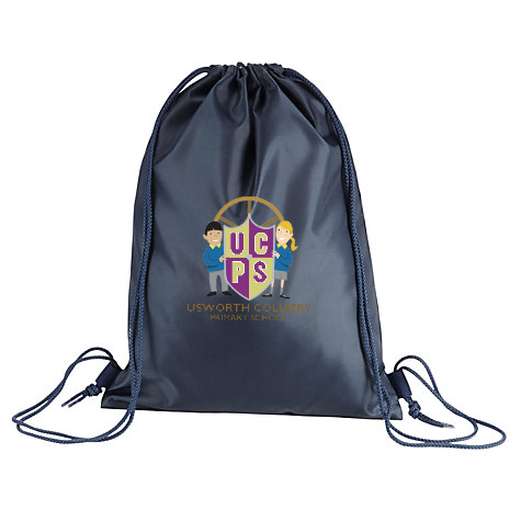 Usworth Colliery Primary School Navy Gym Bag