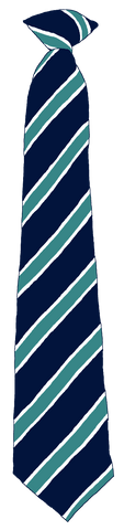 Washington Academy Turquoise Stripe Clip On Tie