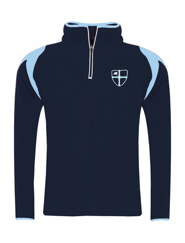 Wellfield School in Wingate, County Durham Navy/Sky Cuatro P.E. Fleece Top