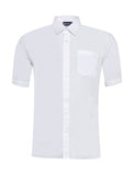 Boys White Short Sleeve Shirts