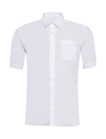 Boys White Short Sleeve Shirt