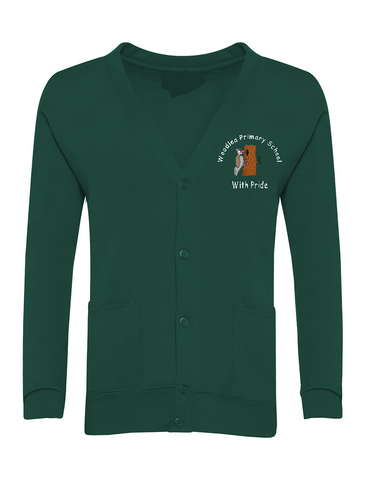 Woodlea Primary School Bottle Green Cardigan