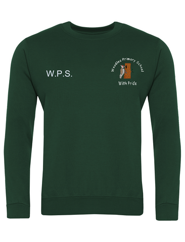 Woodlea Primary School Bottle Green Sweatshirt with Initials