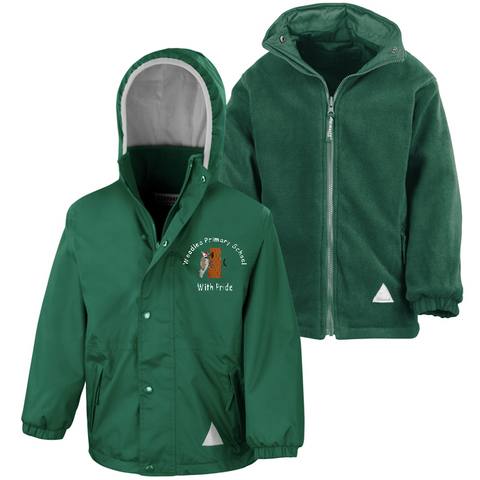 Woodlea Primary School Bottle Green Waterproof Coat