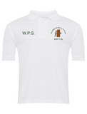 Woodlea Primary School White Polo with Initials