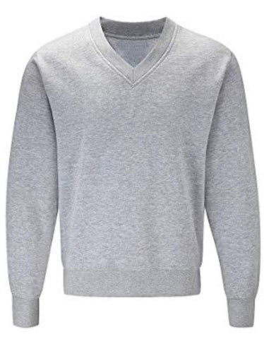 Grey V Neck Sweatshirt