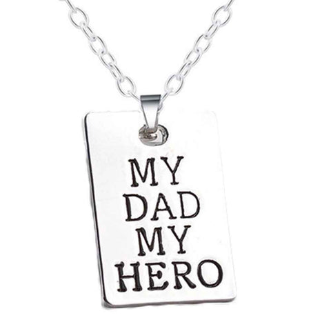 My Dad & My Hero Letter Tag Necklace - Sothebees