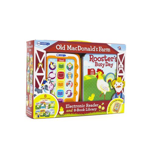 ME Reader JR Electronic Reader and 8-Book Library: Old MacDonald's Farm