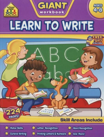 School Zone Giant Workbooks: Learn to Write