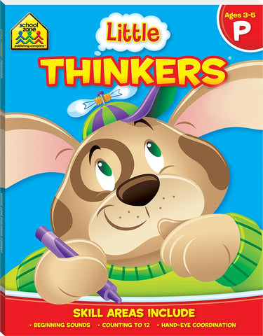 School Zone Little Thinkers Workbooks: Ages 3-5 P