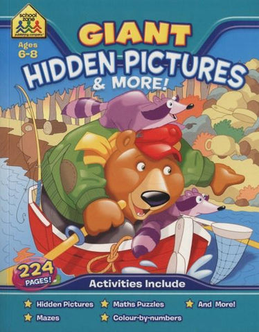 School Zone Giant Workbooks: Hidden Pictures (Ages 6-8)