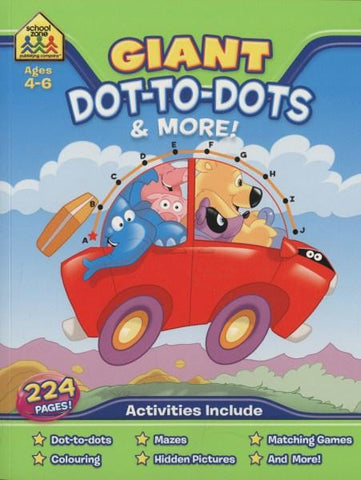 School Zone Giant Workbooks: Dot-to-Dots (Ages 4-6)