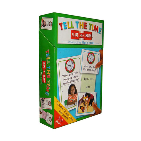 Slide & Learn Flash Card: Tell The Time
