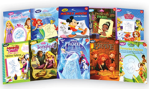 Disney Learn to Draw 10 Books Set