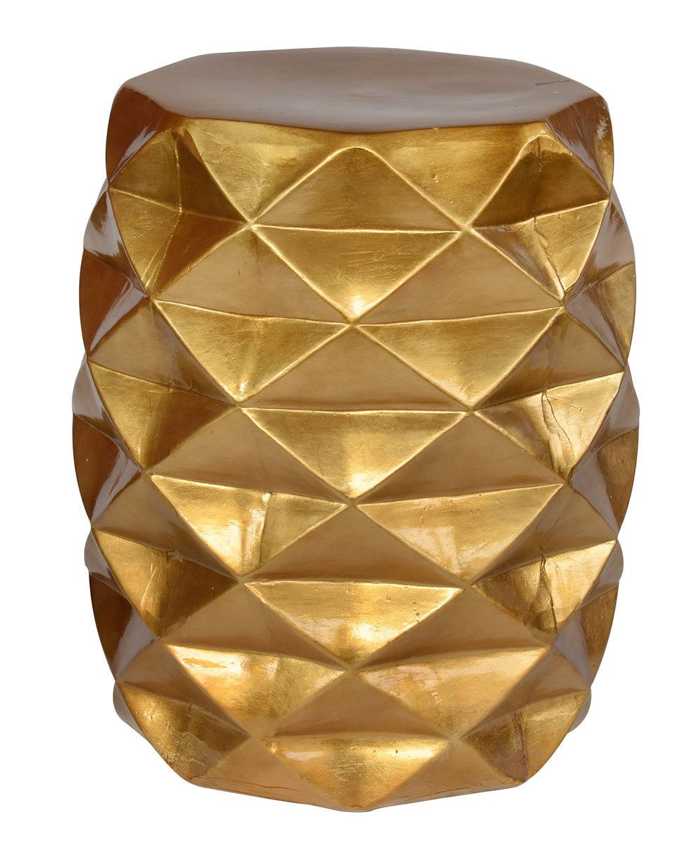 Stool Facet Brushed Gold