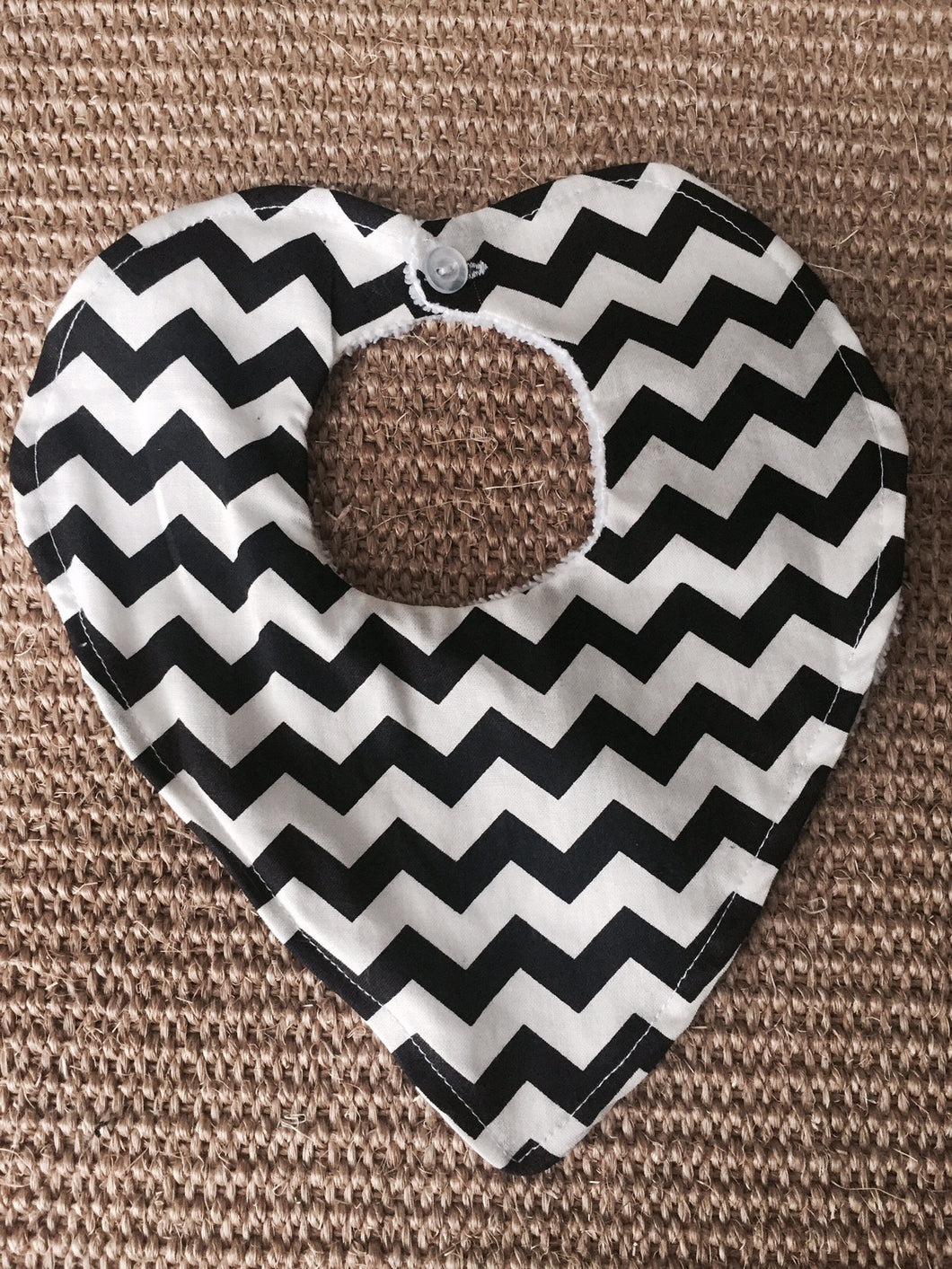 Dribble Bib - Black Chevron