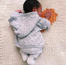Heart Hand Knit Crib Blanket