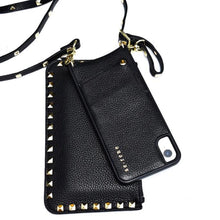 100% Pebble Leather Crossbody Cellphone Case & Pouch