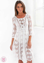 Honey And Milk VPanel Lace Dress White