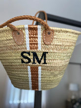 Monogram Moroccan Basket - Brown Leather Handles