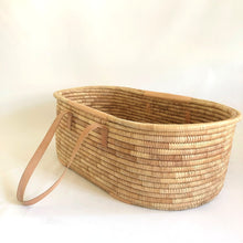 Moses Basket Ko-coon Timeless - Leather handles (nude)