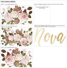 French Roses Wall Art Set
