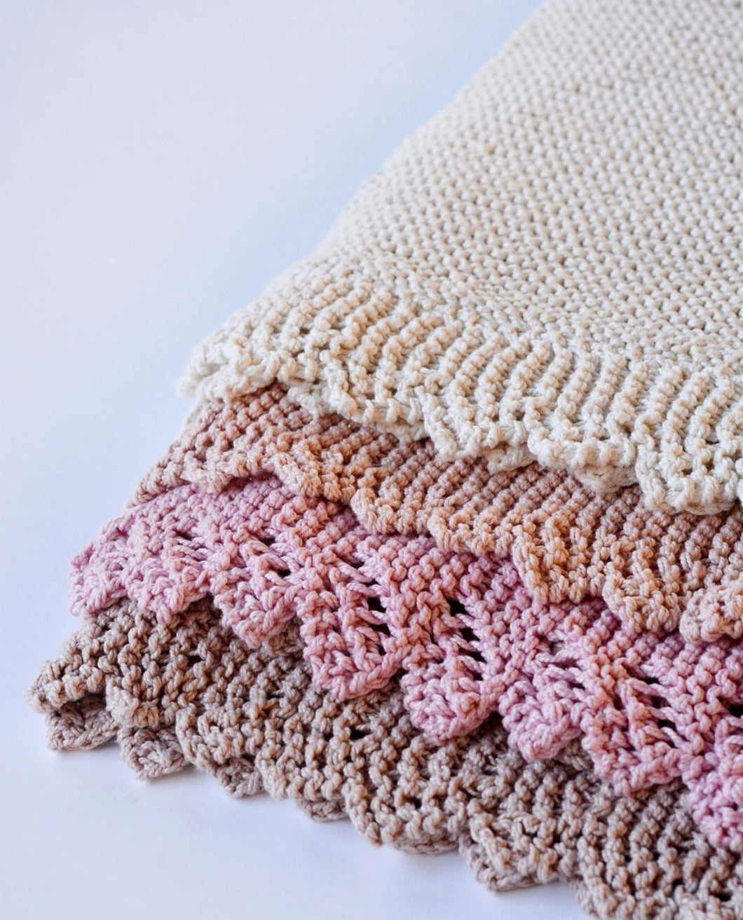 Lacy Edge Cot Blanket